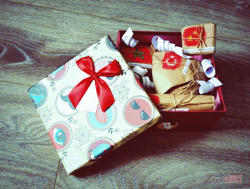 Романтический подарок на годовщину отношений