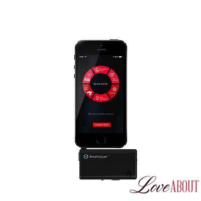 Черный алкотестер для смартфона