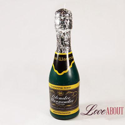 Свеча в виде шампанского