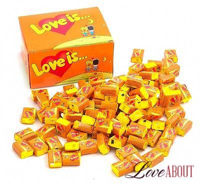 Жвачка «Love is…» апельсин-ананас