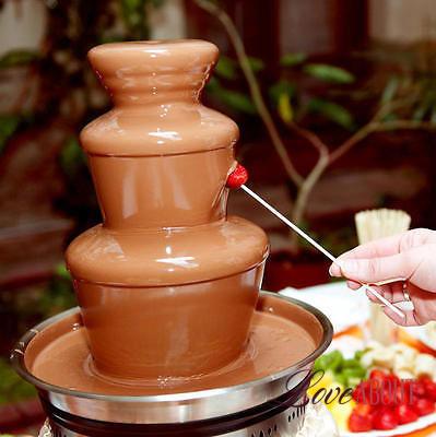 Шоколадный фонтан на стол