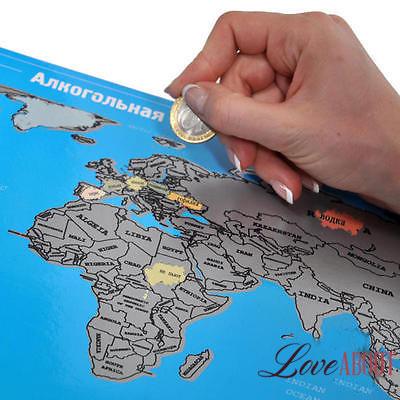 Алкогольная стиральная карта мира