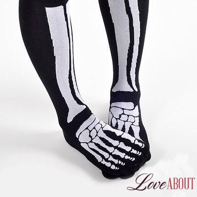 Носки со скелетом