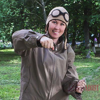 Вязаная шапка пилота-летчика