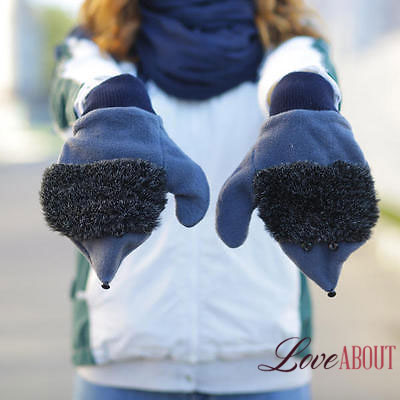 Сине-черные ежовые рукавицы
